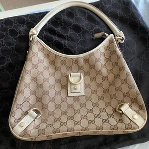 Gucci Original Canvas Beige Hobo Bag